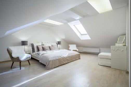 White loft conversion bedroom